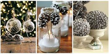 Ornaments For Home Decor by 21 Holiday Pine Cone Crafts Ideas For Pinecone Christmas