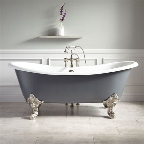 bathtub with feet 72 quot lena cast iron clawfoot tub monarch imperial feet dark gray bathroom