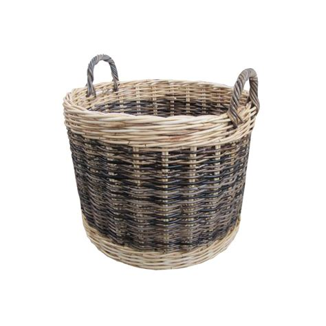 rattan baskets buy two tone rattan round wicker log basket from the