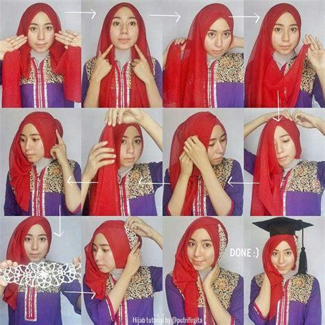 tutorial hijab paris dengan kebaya tutorial hijab untuk kebaya modern terbaru cantik menawan