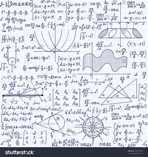 pattern formula finder mathematical vector seamless pattern with formulas plots