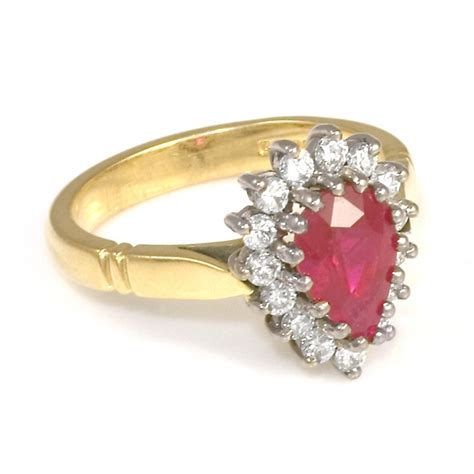 Ringe Gold by Ruby Ring Ruby Ring Gold With Diamonds
