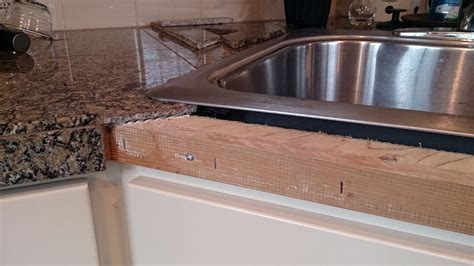Granite tile can be reaffixed to countertop edge   Tribune