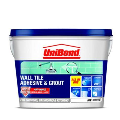 bathroom tile adhesive and grout unibond anti mould tile grout cream