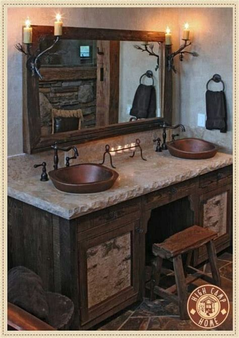 rustic sinks bathroom another great rustic bathroom bathroom sinks pinterest