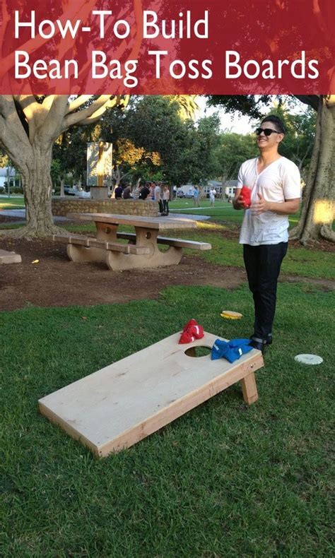 outdoor 11 bean bag toss how to build a bean bag toss board bean bags tossed and