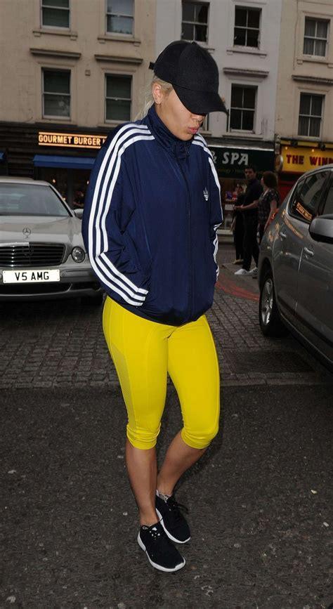 lucy davis notting hill rita ora out in yellow leggings 13 gotceleb