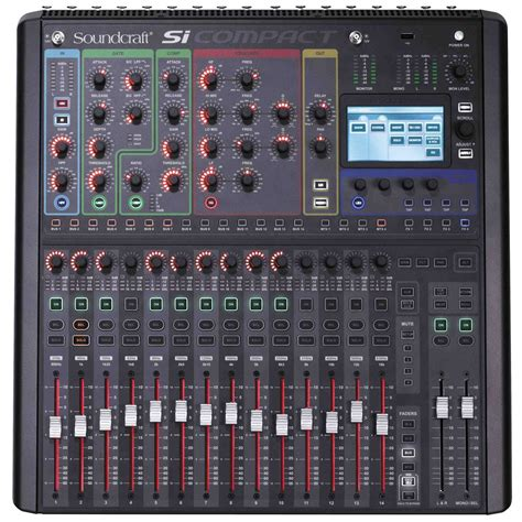 Mixer Audio 16 Ch soundcraft si compact 16 audio mixer console digital professional 16 channel