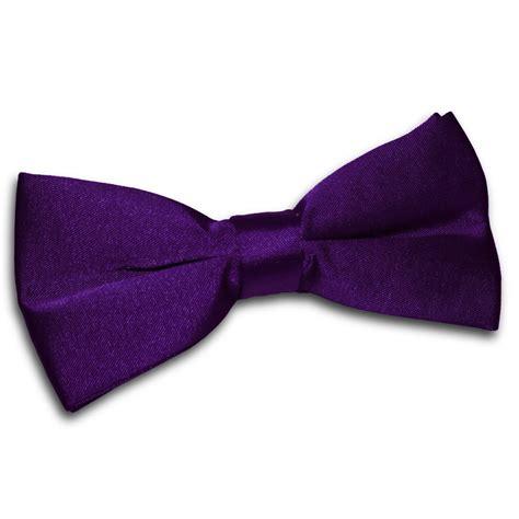 Bowtie Regular Purple dqt satin plain solid purple formal classic mens pre