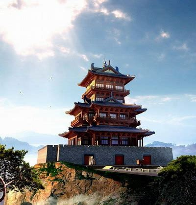 Chinese Interior Design by Chinese Traditional Architecture Series Tower Castle 3d
