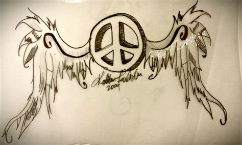 peace wings tattoo design for the ones who love to be