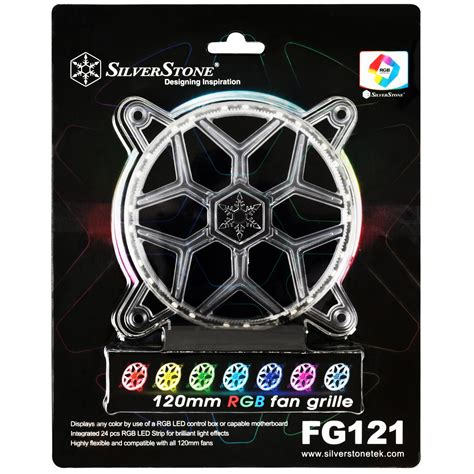 asus aura sync fans silverstone technology 120mm rgb led fan guard grill for