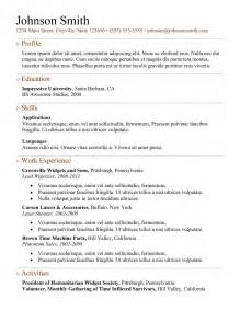 Best Resume Templates by 7 Samples Of How To Make A Professional Resume Examples