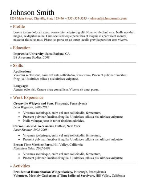 standard resume format doc gse bookbinder co
