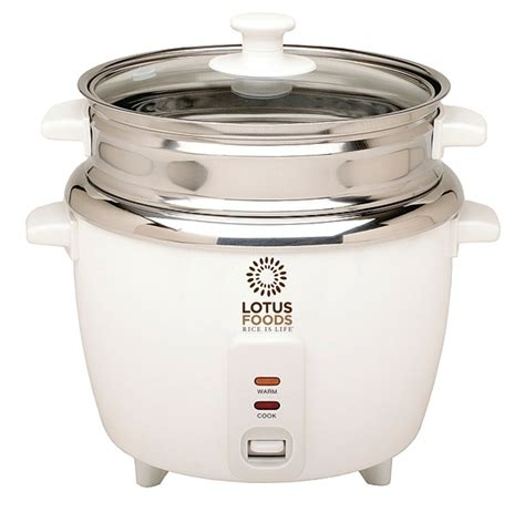Jual Rice Cooker Stainless Steel Inner Pot lotus foods 12 cup cooked rice cooker w stainless steel