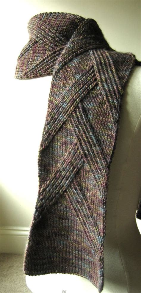 knitting pattern on pinterest great scarf for men rippenschal my favourite ribbed