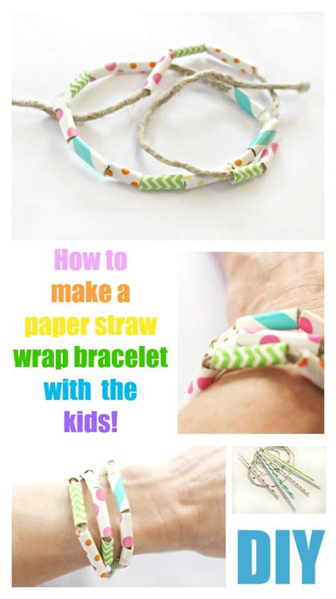 How To Make A Paper Wrap - paper straw wrap bracelet crafts for