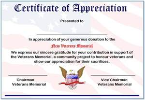 certificate of appreciation for donation template 10 certificate of appreciation for donation