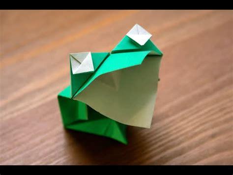Animated Origami - origami grenouille bavarde animated frog senbazuru