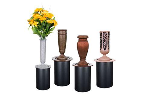 In Ground Cemetery Flower Vases by Memorial Vases U S Metalcraft Inc 174