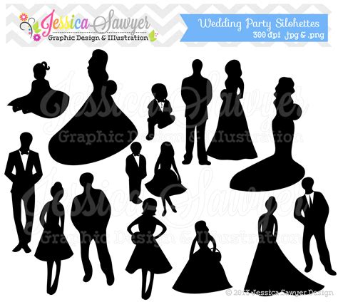 party silhouette pics for gt groomsmen silhouette clip art