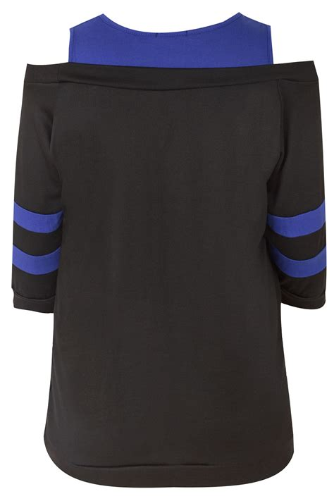 do you wash colors in or cold black blue new jersey print cold shoulder sweat top