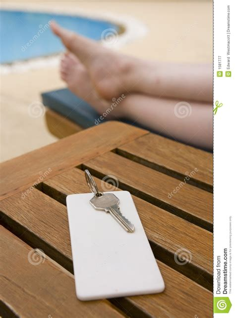 Hotel Room Key by Hotel Room Key On Table Royalty Free Stock Photography