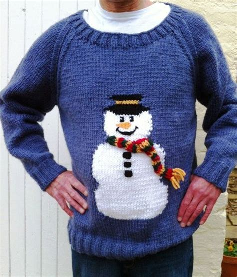 knitting pattern xmas jumper snowman jumper chunky knitting pattern christmas