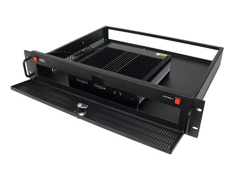 fanless noise free rack mount pc server with single or