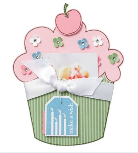 gift card holder template cupcake giftcard holder100821