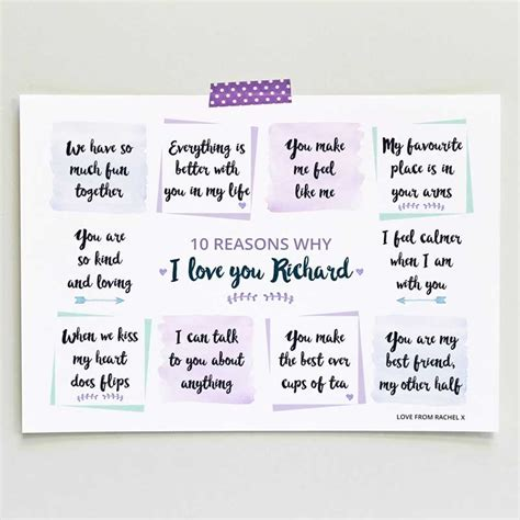 quot top 10 kid reasons quot birthday printable card blue reasons i love you art print love give ink