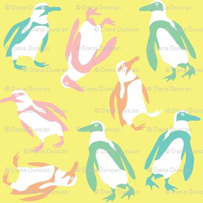 colorful penguins colorful penguins fabric pinkowlet spoonflower