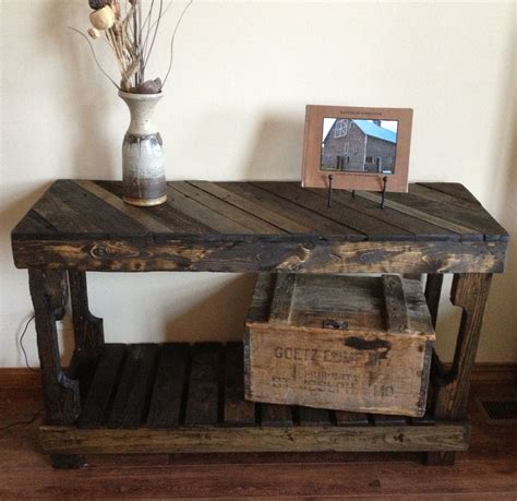 pallet sofaentry table   rustic recyclery
