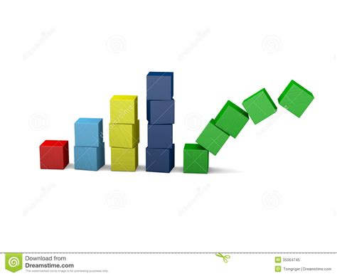 symbol of growth failing growth royalty free stock photo image 35064745