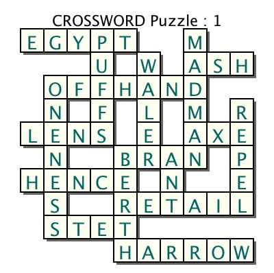 make your own freeform crossword puzzles with crossword