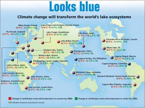 world lakes in map climate change affects world s lakes