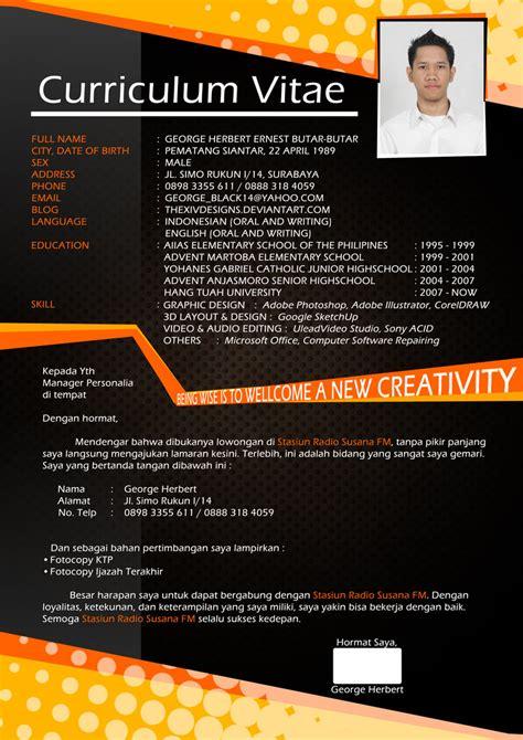 design cv yang menarik hendri hapsari curriculum vitae cv menarik
