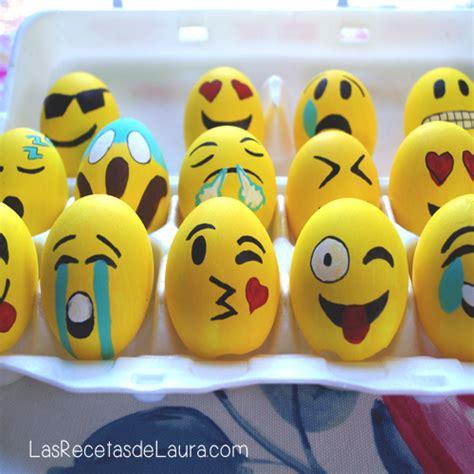 huevos decorados de emojis huevos de pascua de emojis las recetas de laura