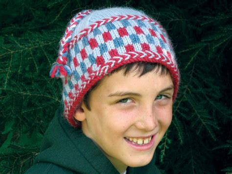 hat pattern bulky yarn knit checkerboard hat bulky weight pattern download