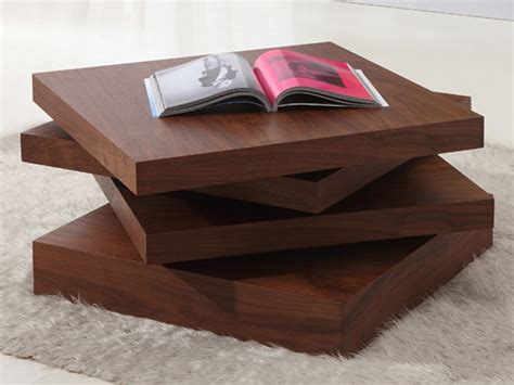 types of coffee tables kyra rotating 3 tier walnut coffee table