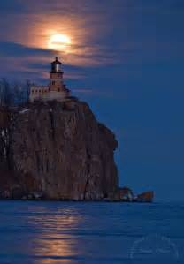 moonlit split rock lighthouse silver bay minnesota most visited lighthouse in the united