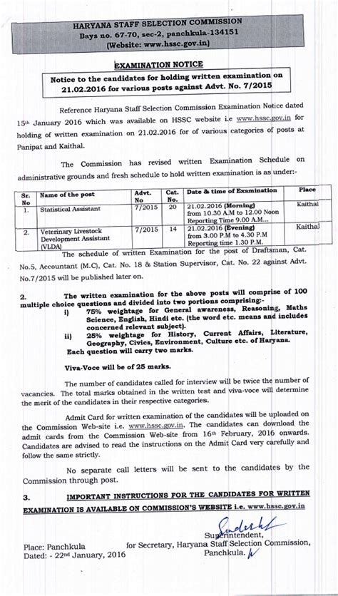 Statistical Assistant by Statistical Assistant And Vlda Syllabus Date And Ticket Issued Hssc Haryana