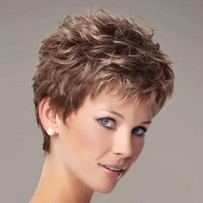 wash and go haircuts for plus size woman the zest wig by gabor is a short texture rich pixie