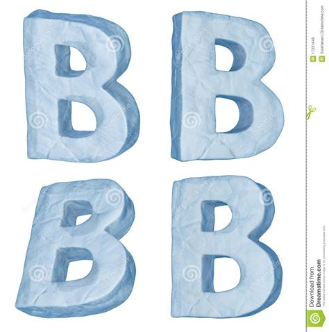plan b icy icy letter b royalty free stock images image 17331449
