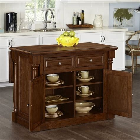 Oak Kitchen Carts And Islands - home styles monarch kitchen island with wood top oak carts in ebay