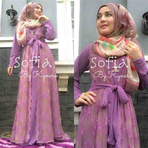 Batik Gamis Sofia sofia by kynara lavender baju muslim gamis modern