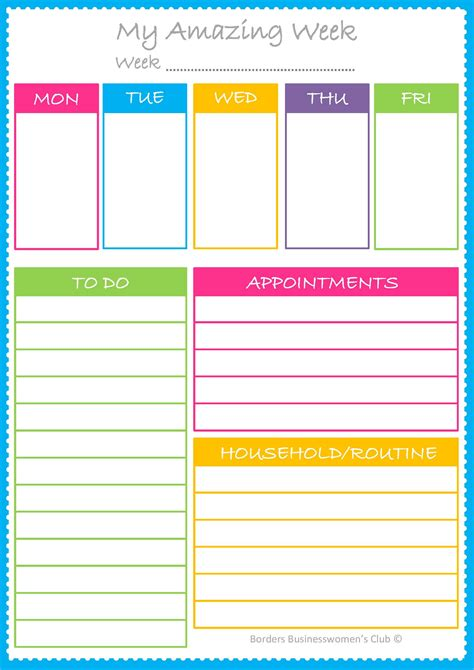 planner com borders businesswomen s club page 2
