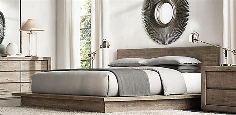 restoration hardware bedroom sets introducing reclaimed russian oak platform bed