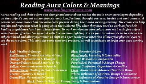 spiritual meaning of colors reading aura colors meanings reiki metaphysical