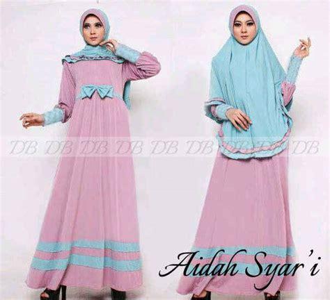 Baju Wanita Gamis Syar I Dress Wollycrepe Set Khimar Moza gamis set bergo aidah y847 busui baju muslim syar i